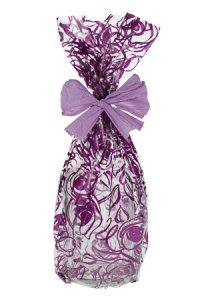 Schmuckbeutel Rosen violett 15 x 25 cm - 10er Pack