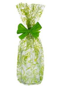 Schmuckbeutel Rosen grün 15 x 25 cm - 10er Pack