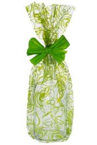 Schmuckbeutel Rosen grün 20 x 35 cm - 10er Pack