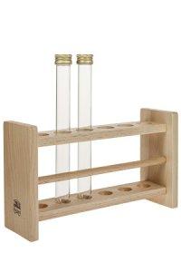 Holzgestell für 6 Reagenzgläser