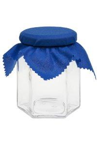 Deckchen 150 mm blau