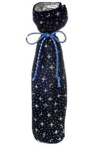 Samtbeutel blau mit Sternen