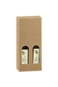 Flaschenkarton 2er  90 x 45 x 215 mm natur