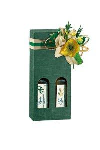 Flaschenkarton 2er  90 x 45 x 215 mm grün