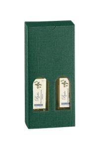 Flaschenkarton 2er 110 x 55 x 240 mm grün