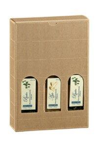 Flaschenkarton 3er 170 x 55 x 240 mm natur