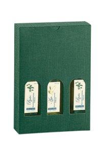 Flaschenkarton 3er 170 x 55 x 240 mm grün