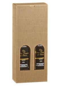 Flaschenkarton 2er 130 x 65 x 315 mm natur