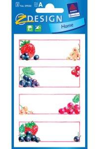 Schmucketiketten Früchte