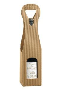 Weinflaschenkarton 1er mit Fenster natur