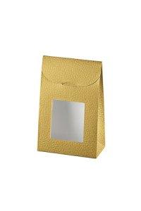 Sichtfenstertasche gold   klein