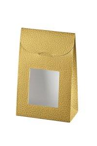 Sichtfenstertasche  mittel gold