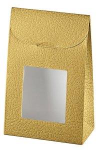Sichtfenstertasche groß gold