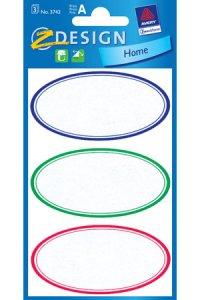 Schmucketiketten Ovale farbig