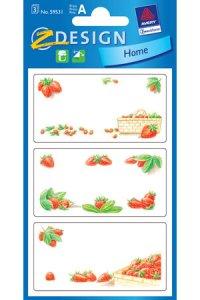 Schmucketiketten Erdbeeren