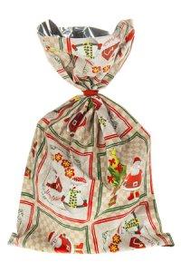 Schmuckbeutel Santa Claus 15 x 25 cm - 10er Pack