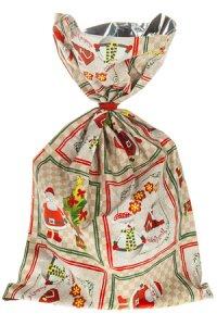Schmuckbeutel Santa Claus 20 x 35 cm - 10er Pack