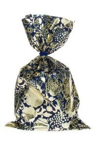 Schmuckbeutel Barock blau 15 x 25 cm - 10er Pack
