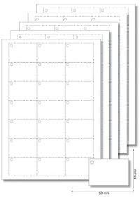 Anhängeetiketten 60x40 mm weiß - 50 Blatt A4