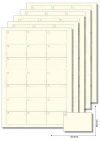 Anhängeetiketten 60x40 mm creme - 50 Blatt A4