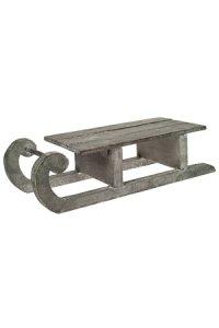 Deko-Schlitten XL aus Holz, 33,5 x 11,5 x 8,5 cm (L/B/H)
