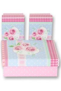 Geschenkbox Rosen rosa - 3er Set