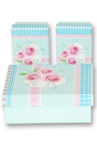 Geschenkbox Rosen mint - 3er Set