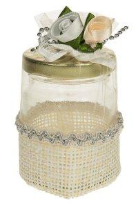 Körbchen herzförmig mit Rosendekor