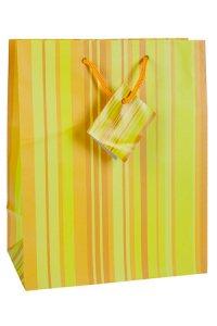 Geschenktasche Streifen gelb