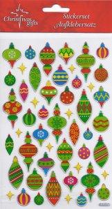 Weihnachtssticker-Set Baumschmuck beglimmert