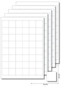 Etiketten 33 x 33 mm weiß -  5 Blatt A4
