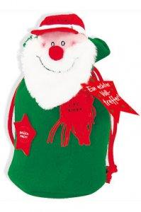 Sprechender Geschenksack - Weihnachtsmann (grün)