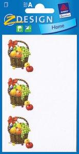 Schmucketiketten Obstkorb