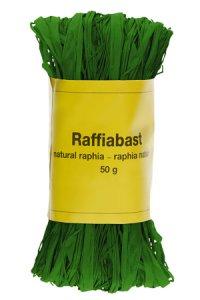 Raffia Bast 50 g grün