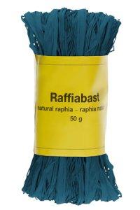 Raffia Bast 50 g blau
