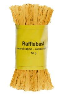 Raffia Bast 50 g gelb