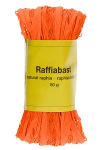 Raffia Bast 50 g orange