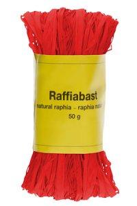 Raffia Bast 50 g rot