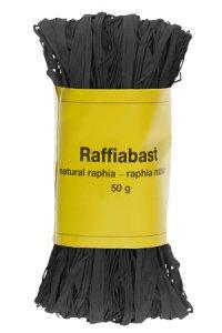Raffia Bast 50 g schwarz
