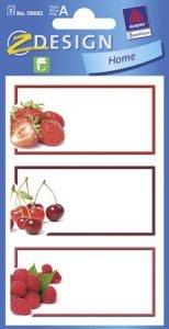 Schmucketiketten Rote Früchte