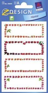 Schmucketiketten Rahmen rote Früchte