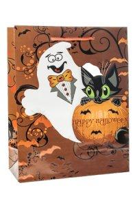 Geschenktasche Happy Halloween, 18 x 8 x 23 cm