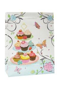 Geschenktasche Muffins, 18 x 8 x 23 cm