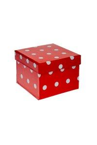 Geschenkbox Punkte quadratisch    klein