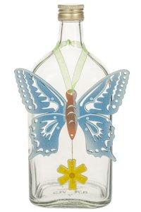Anhänger Schmetterling blau mit Blume