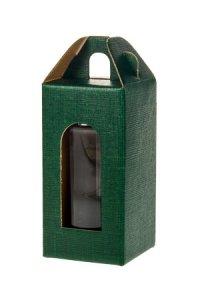 Gläserkarton 1er 60 x 60 x 120 mm grün