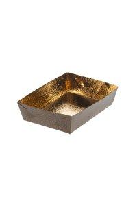 Schale 130 x 90 x 35 mm gold/marone