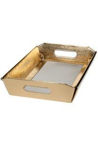 Schale 220 x 160 x 50 mm gold