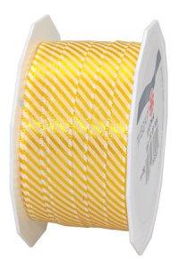 Stoffband Ancona 20 m, 10 mm gelb