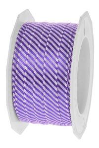 Stoffband Ancona 20 m, 10 mm violett